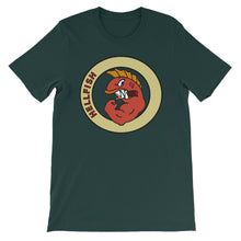HellFish Unisex 100% Cotton T-Shirt, Black, Brown, Aqua, Green, S - 3XL