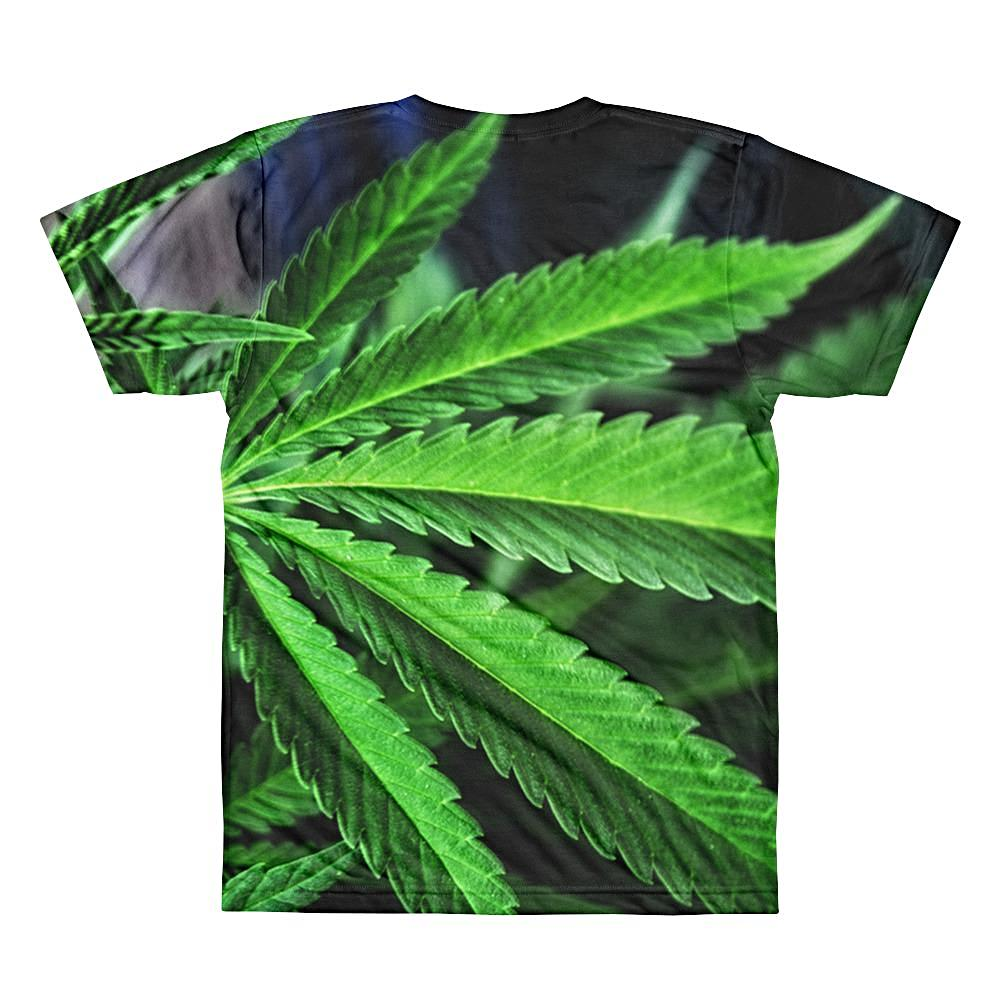 Weed Leaf 3D T-Shirt by diablotees