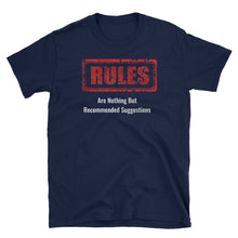 No Rules Unisex 100% Cotton Black/Navy T-Shirt, S-3XL navy