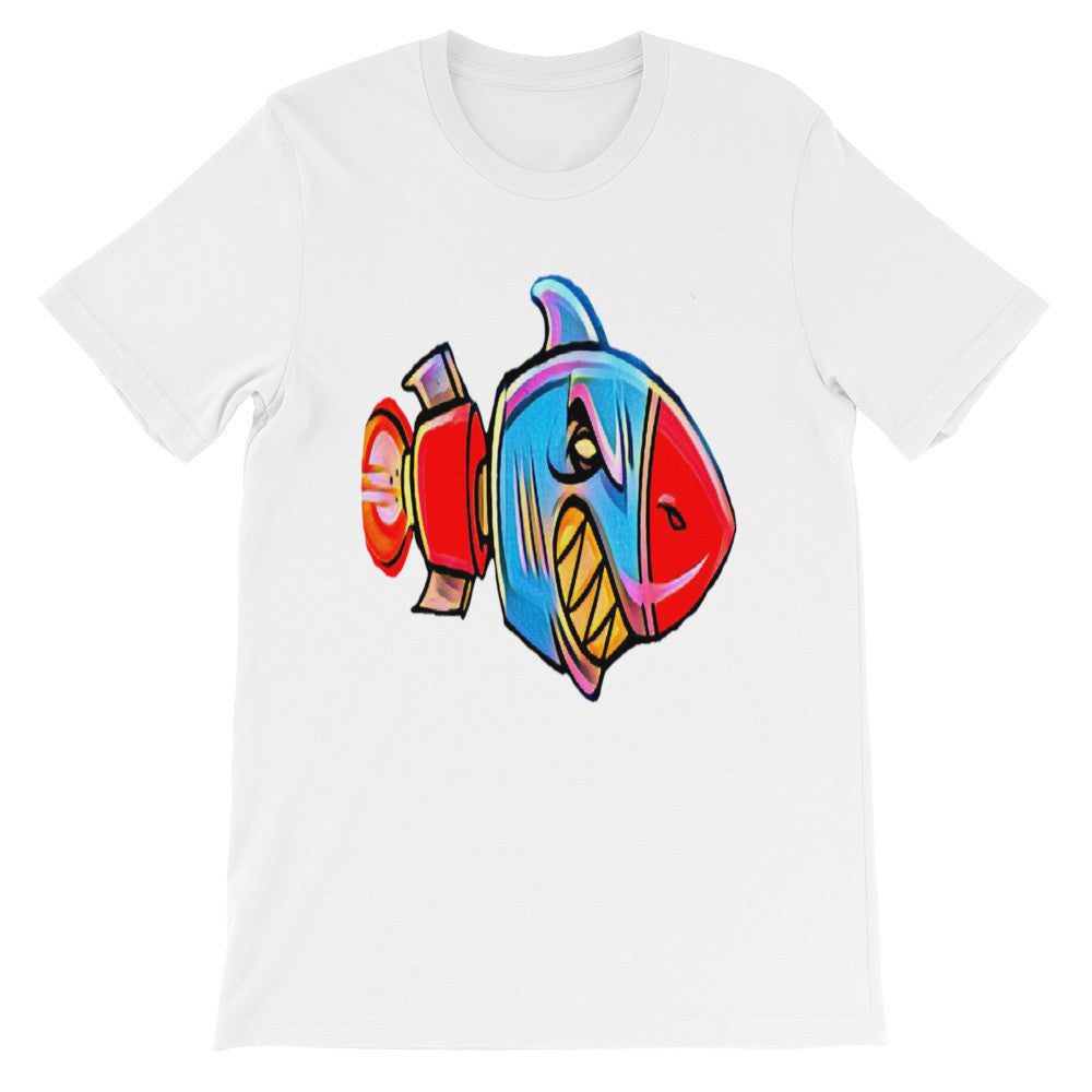 Shark Rocket Unisex 100% Cotton T-Shirt, White, S- 3XL