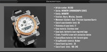 Golden Big Dial Digital / Analog Luminous Stainless Steel Men Watch, Water Resistant, LED display
