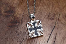 Knights Of The Templar Stainless Steel Maltese Iron Cross Necklace/Pendant