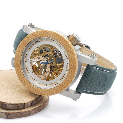 The Samsara - Steampunk Skeleton Wood Watch
