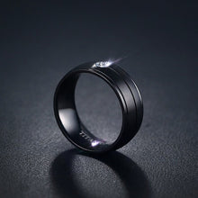 Pure Titanium Matte Black Ring - Size 8 to 12