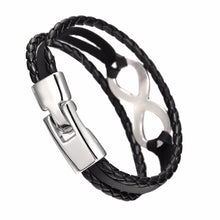 Infinity Is Forever Unisex Leather Bracelet