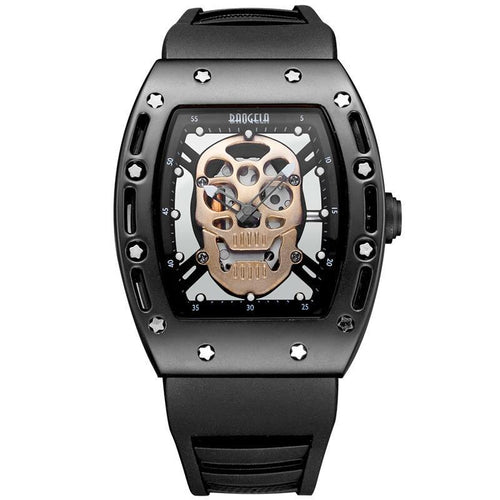 Skull Face Water Resistant Skeleton Watch - 5 Styles