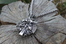 Odin; God of Wisdom & Magic Cross Pendant With Stainless Steel Chain