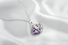 Crystal Heart In Heart Women Pendant/Necklace - 6 Colors