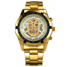 Luxury Stainless Steel Strap Skeleton Auto Watch - 8 Styles