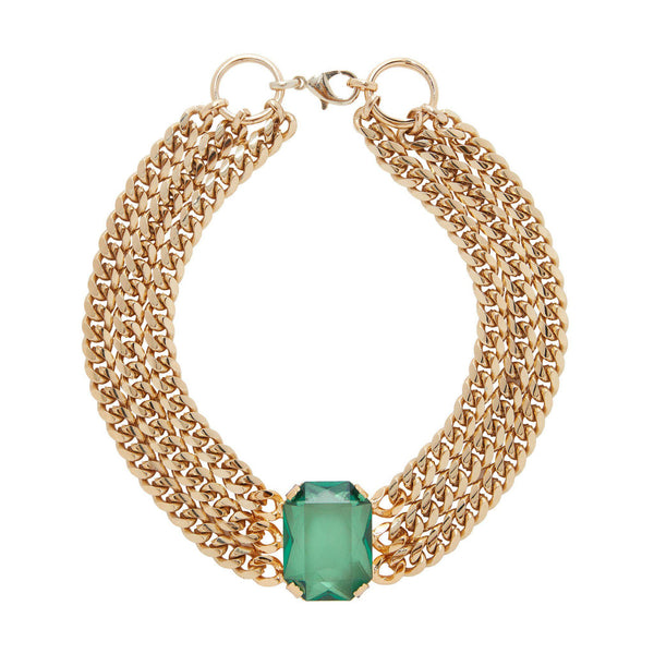 Solange Gold Plated and Emerald