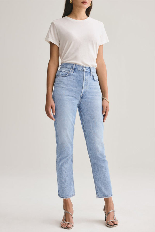 Riley High Rise Straight Crop Jean