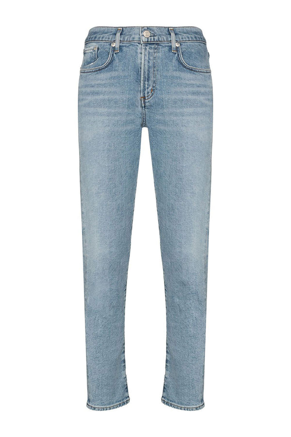 Toni Mid Rise Straight Fit Jean in Daylight