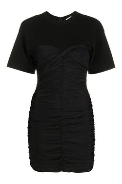 Ruched Bodycon Hybrid Mini Dress