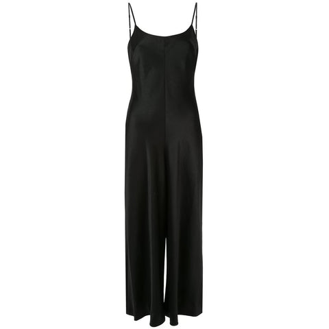 Wash and Go Woven Jumpsuit Black