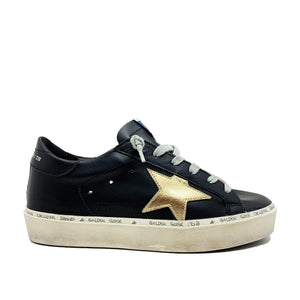 Hi Star Black Gold Leather Sneaker