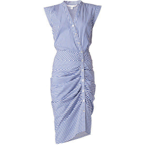 Ruched Dress Stripes