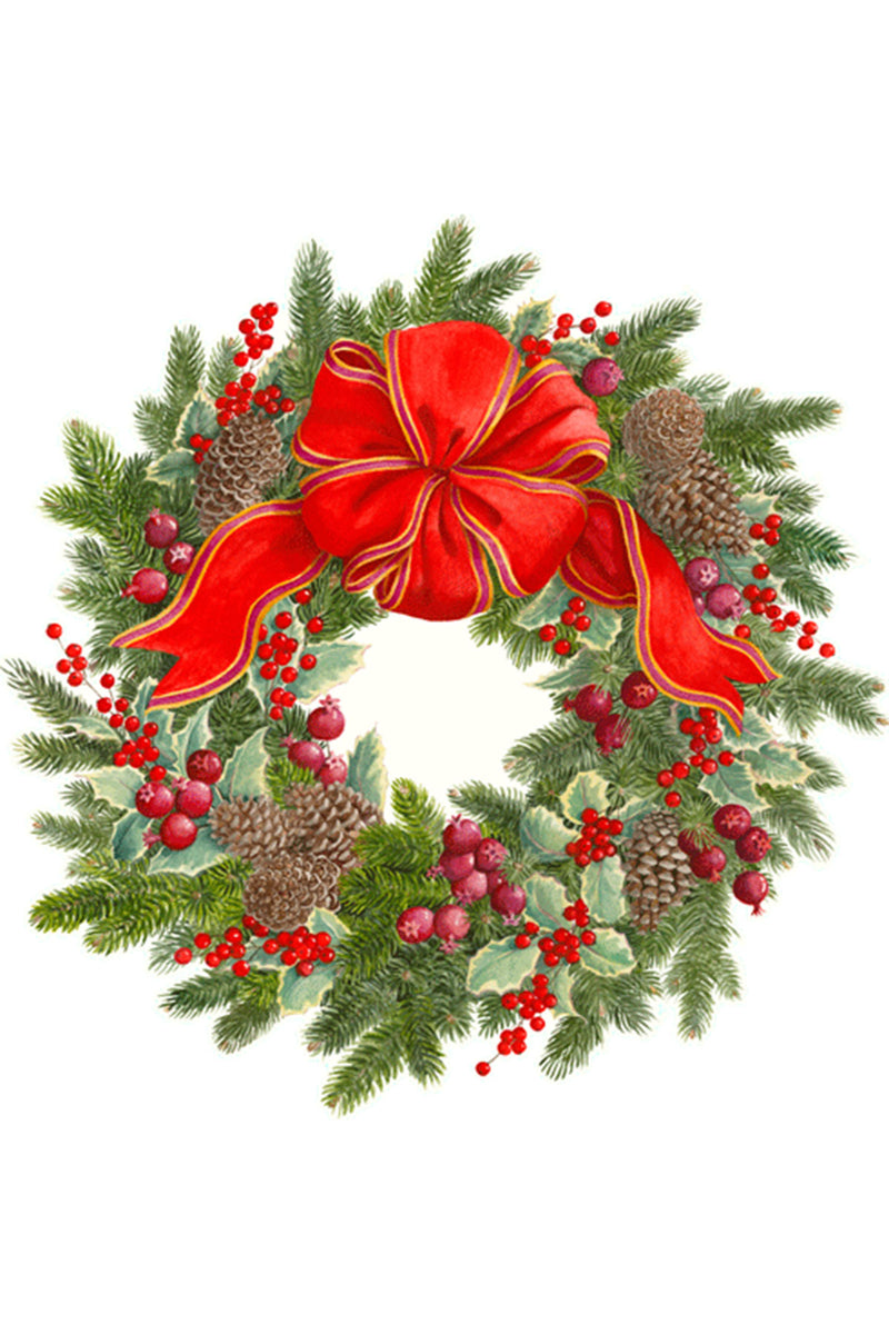 Evergreen Wreath Die-Cut Placemat