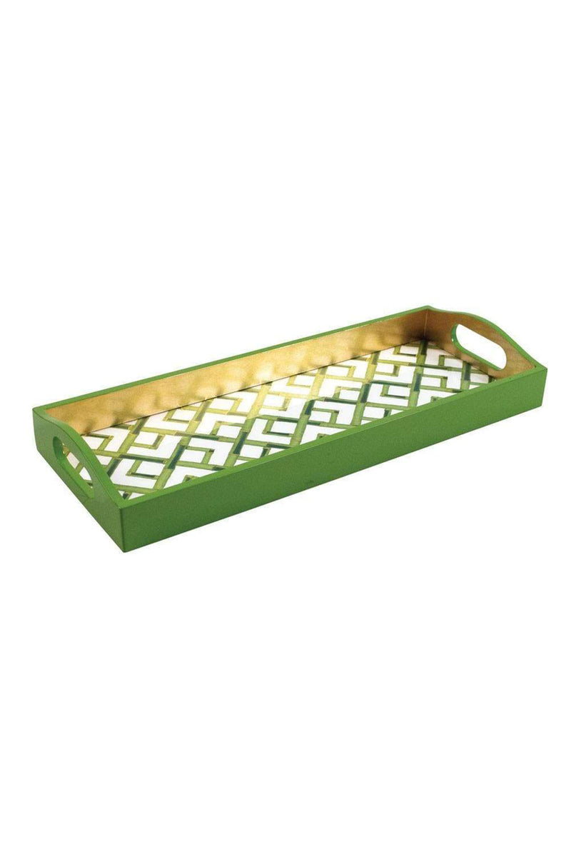 Bamboo Lacquer Bar Tray in White