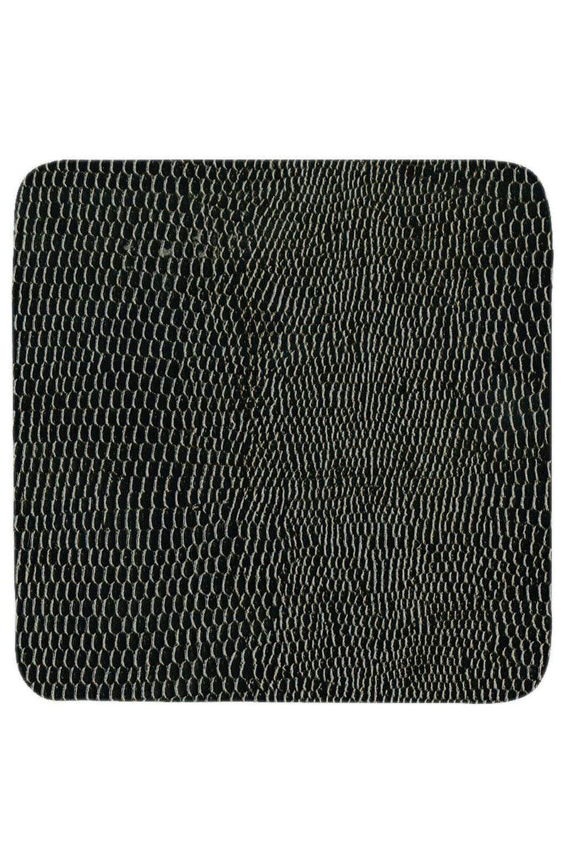 Square Lizard Coasters in Black