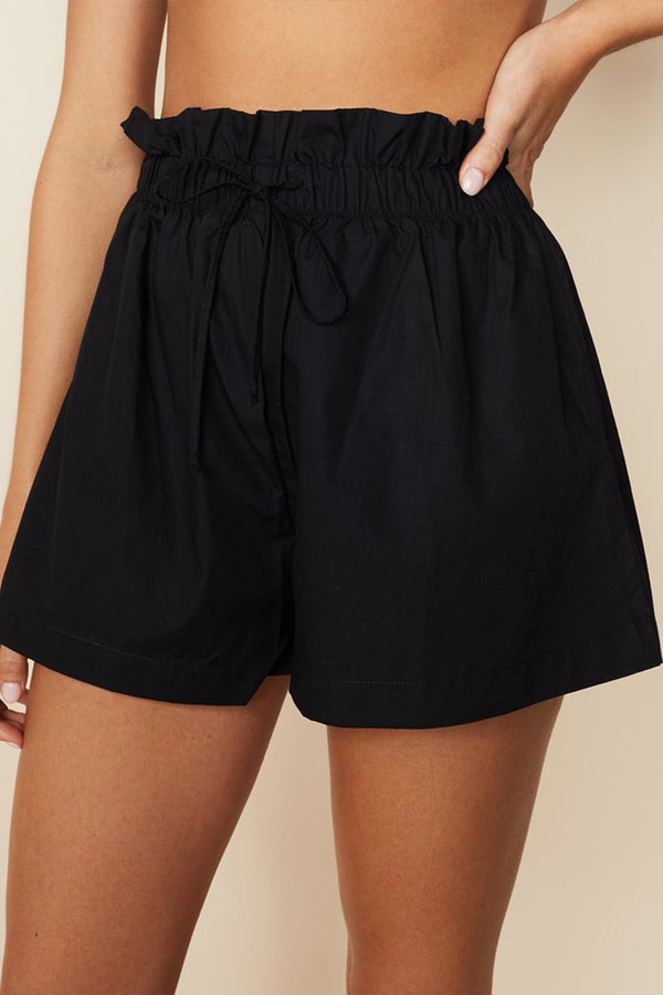Shelby Shorts in Plain Black