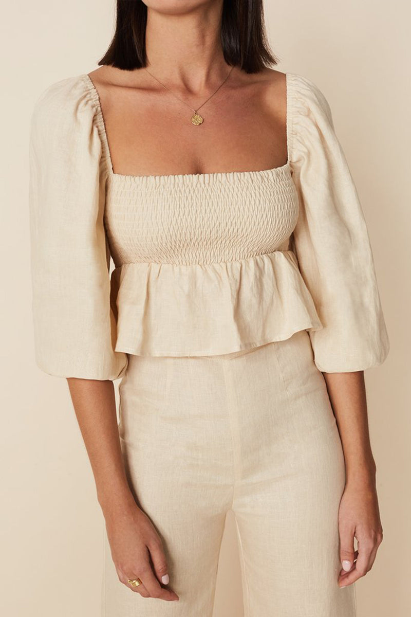 Vivica Top in Plain Sand