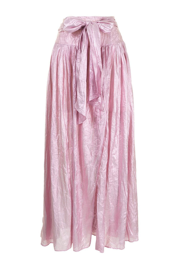 Silk Viscose Lurex Skirt in Rose