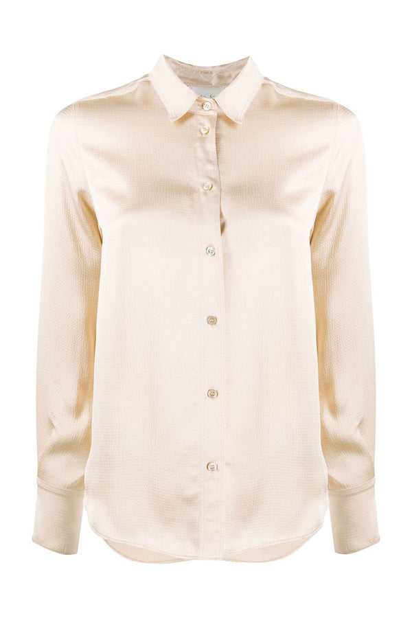 Viscose Cloquet Satin Shirt