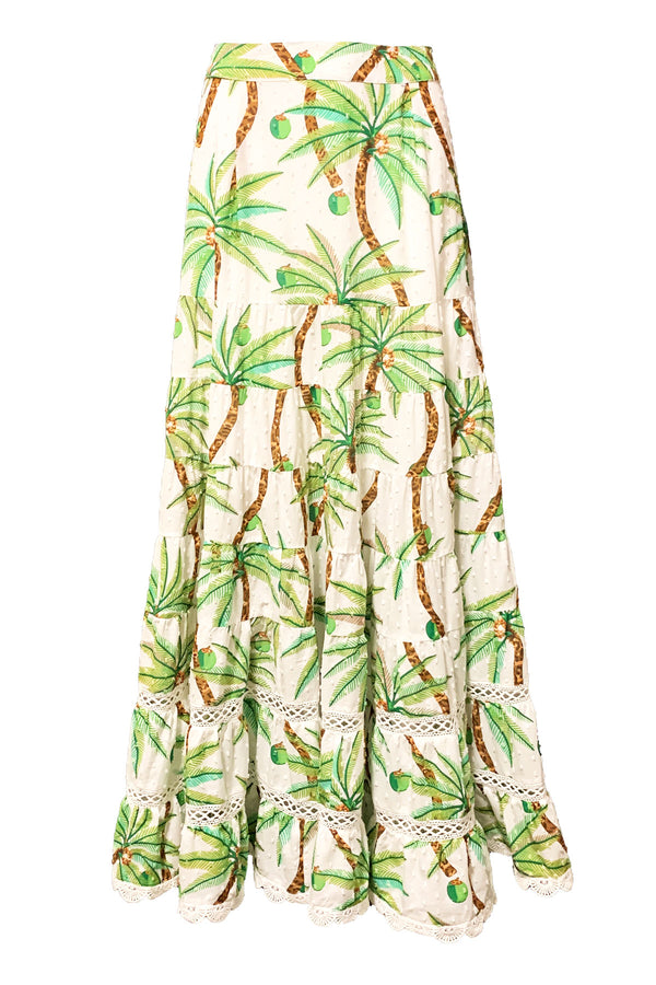 Swinging Palm Maxi Skirt