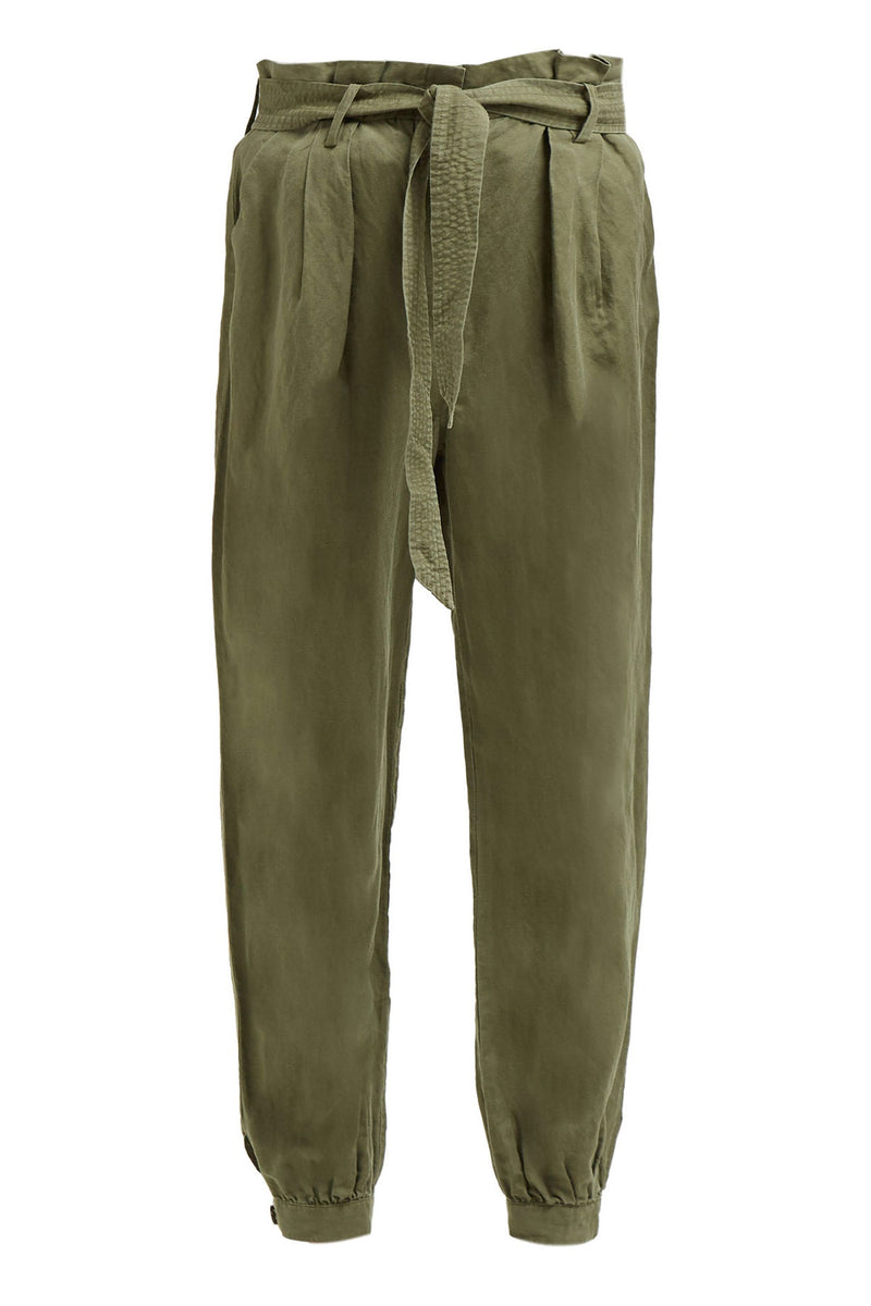 Paperbag Trouser Army Green