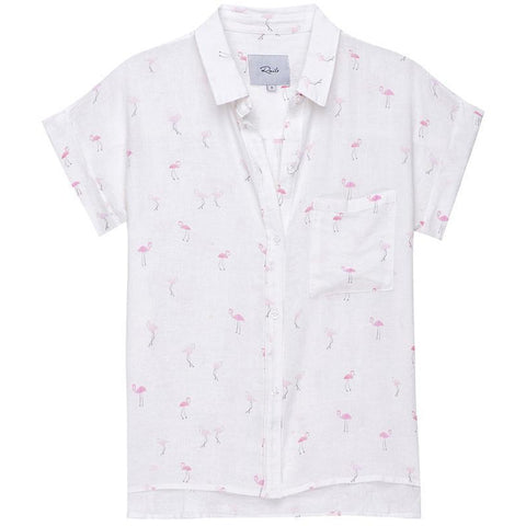 Whitney Button Down Flamingos