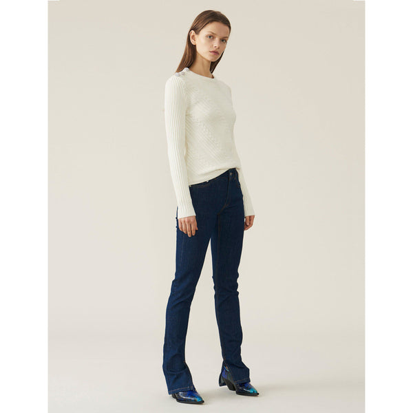Cotton Knit Pullover Egret