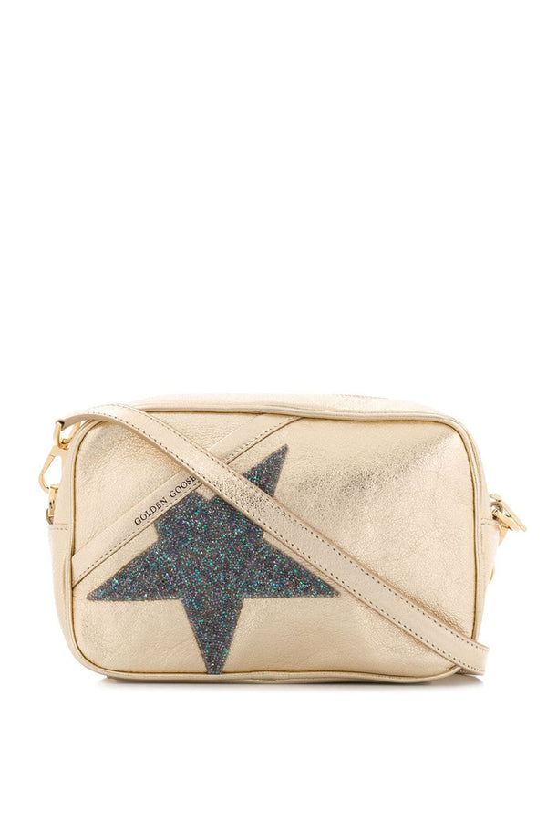 Star Bag made of Laminated Leather with Swarovski Crystals