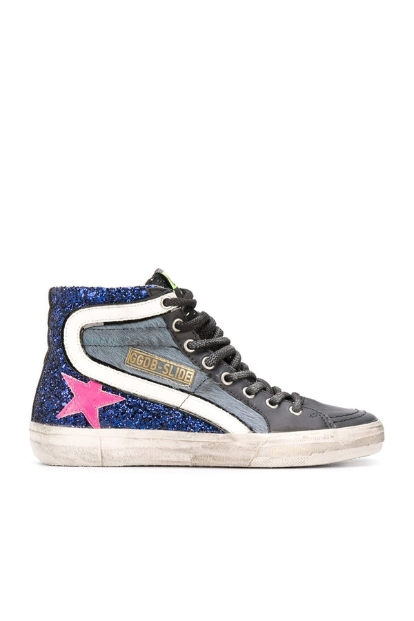 Slide Horsy And Glitter Sneakers