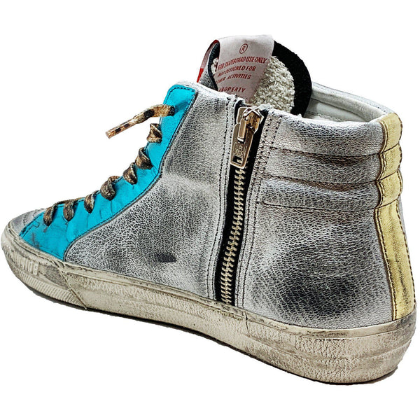 Slide Rainbow Leather Sneaker