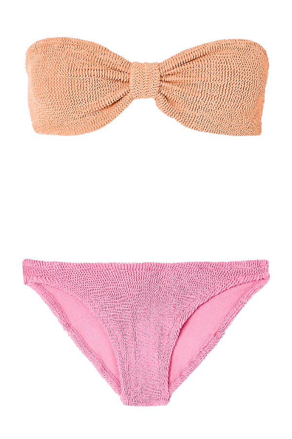Jean Duo Bikini in Coral Bubblegum