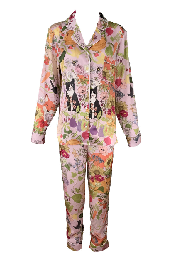 Allotment Poly Satin Long PJ Set