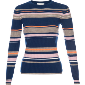 Panel Stripe Long Sleeve Lilac Multi