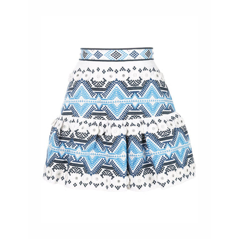 Lucille Skirt Embroidery Blue