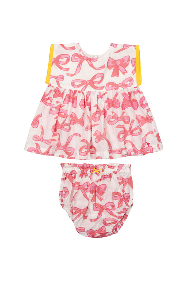 Niley 2-Piece Set Mauveglow Bows