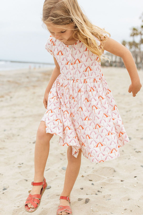 Winnie Dress Sea Pink Umbrellas