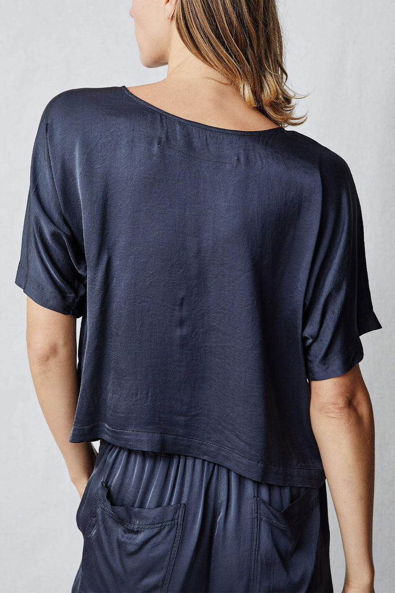 Slate Matte Satin Lilly Top