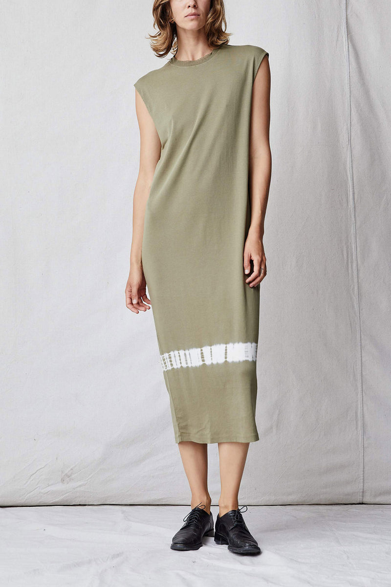 Sage Cotton Medley Column Dress