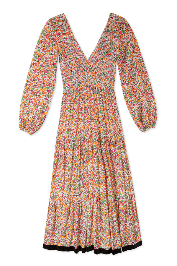 Brooke Dress Retro Micro Floral