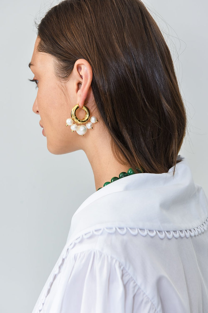 Sandro Pearl and Los Earrings