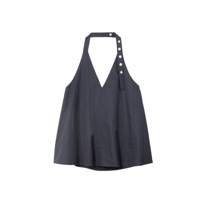 Tech Poplin Halter Top Navy