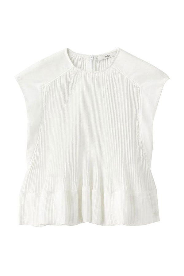 Pleated Yoke Top