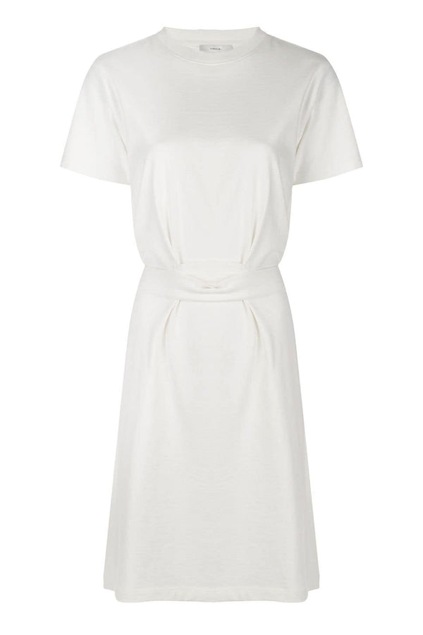 Waist Tie Dress Off White