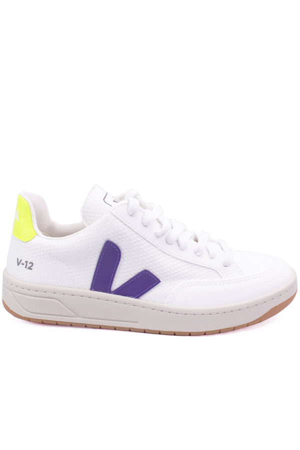V-12 B-Mesh White in Purple Fluo