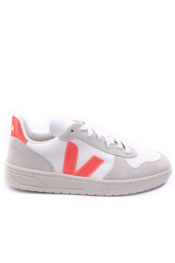 V-10 B-Mesh White Natural in Orange Fluo for Men