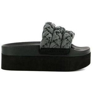 Wallis Slide Denim Black